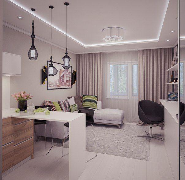 Квартира-студия: дизайн интерьера | Дизайн интерьера ...