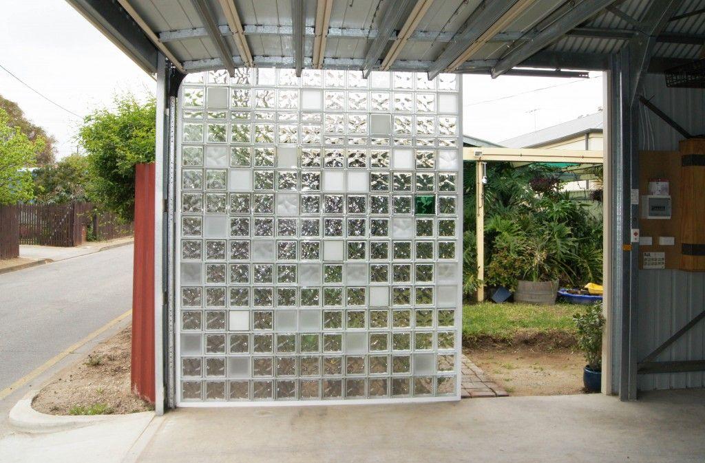 Exterior Areas Glass Blocks Wall Glass Blocks Wall Exterior