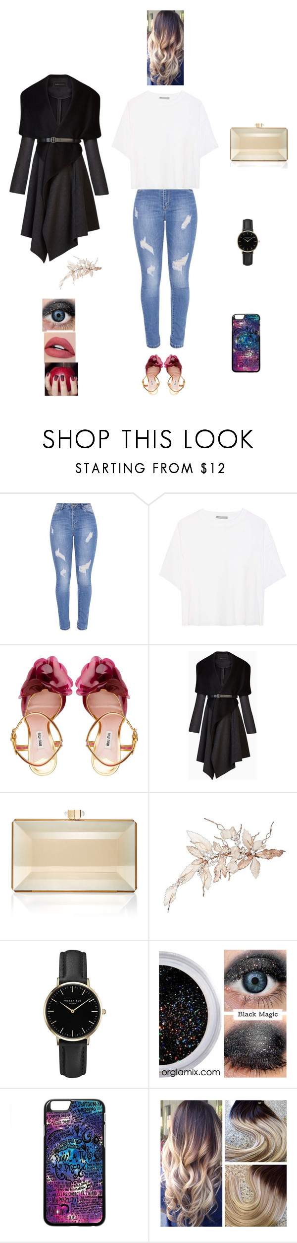 """""""K B M T L"""" by queen-kaitlyn ❤ liked on Polyvore featuring Vince, Miu Miu, BCBGMAXAZRIA, Judith Leiber and ROSEFIELD"""