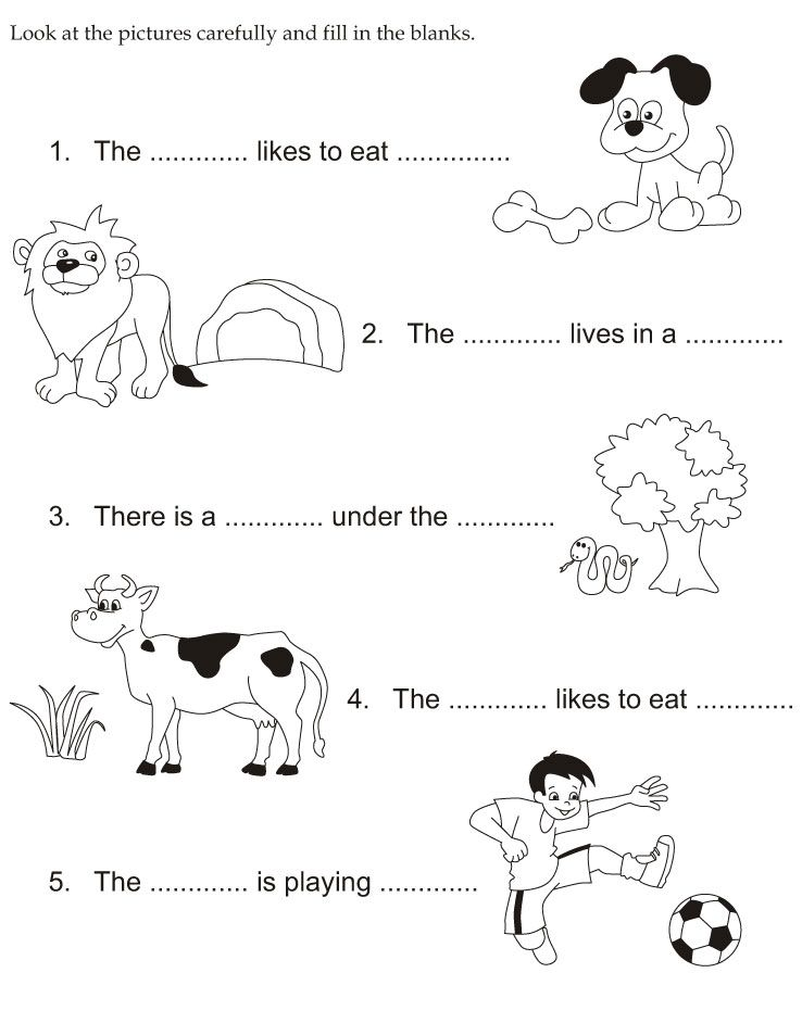 Look At The Pictures Carefully And Fill In The Blanks Slp Vocab