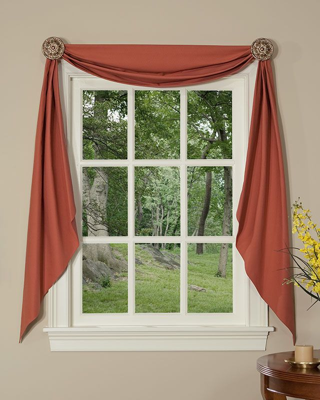 Sterling Lined Fishtail Swag Home Curtains Window Decor Window