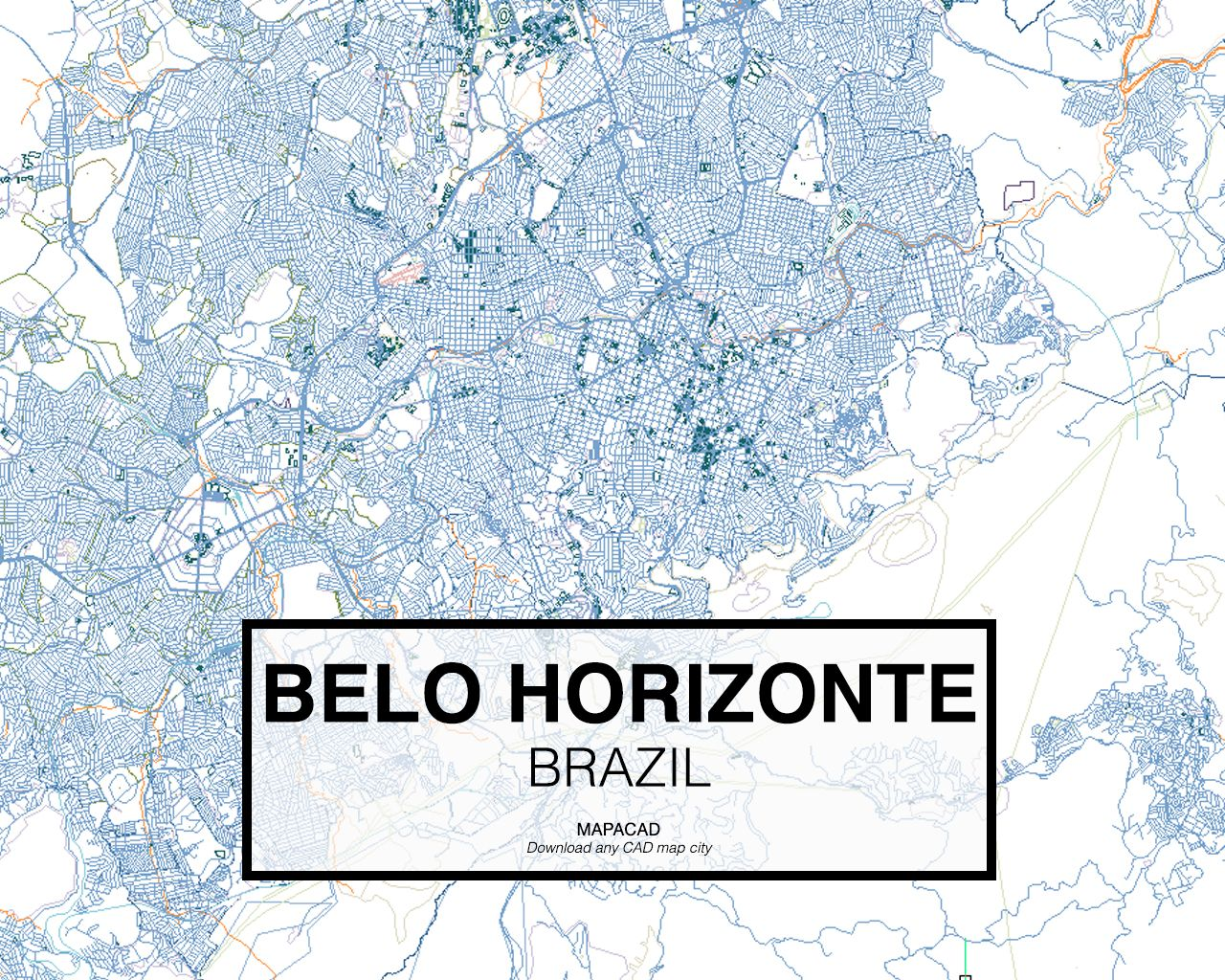 Belo Horizonte Brazil Download CAD Map city in dwg ready to use