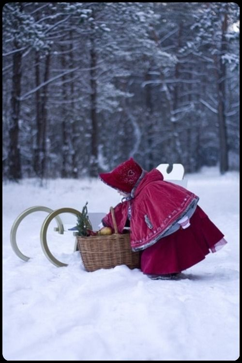 little red riding hood in winter…