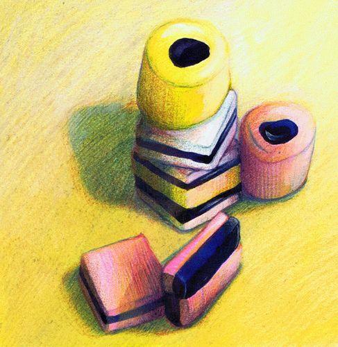 Liquorice pastil Illustration print