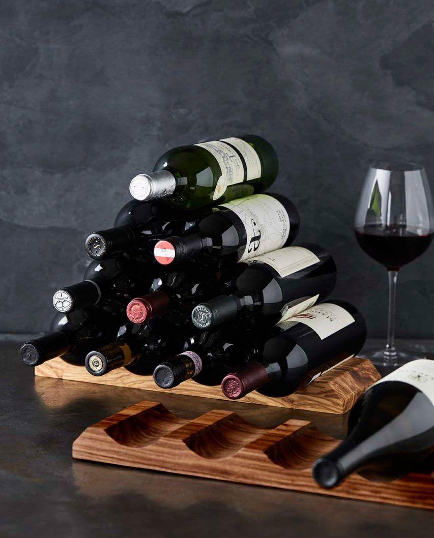Walnut Pyramid Wine Rack Wine Dispenser Wine Rack Italian Wine