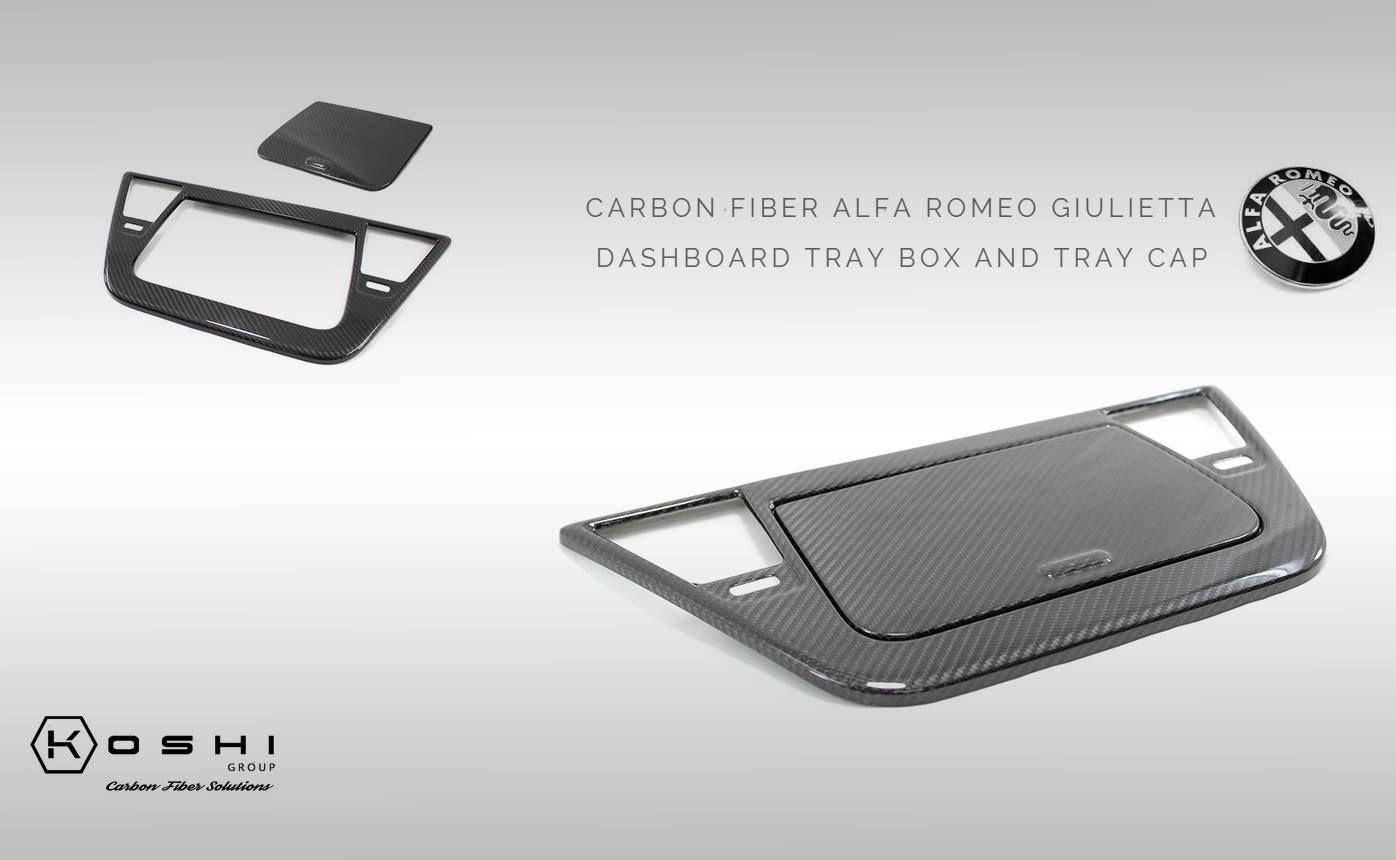 Carbon Fiber Alfa Romeo Giulietta Dashboard Tray Box And Tray Cap