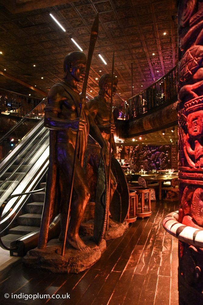 zulu warrior statues at shaka zulu camden london