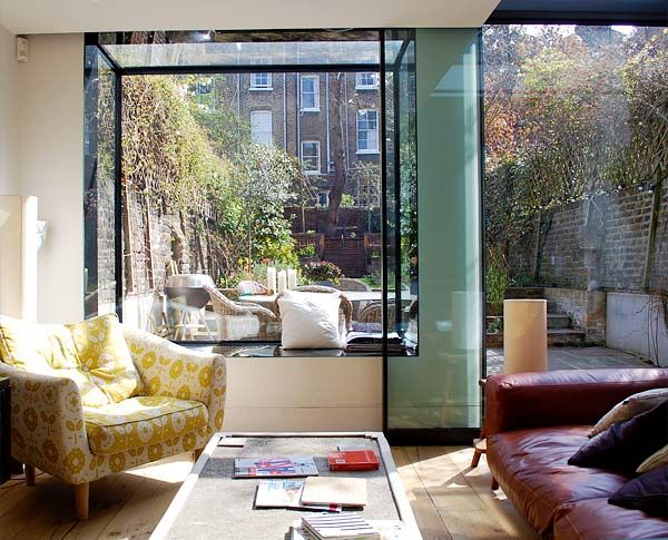 Interior crisp: Light is my favorite color - glass extension in London home