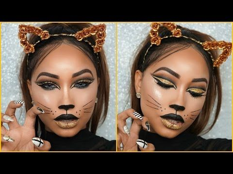 halloween full glam cat face makeup lets learn makeup - Cat Face Makeup For Halloween
