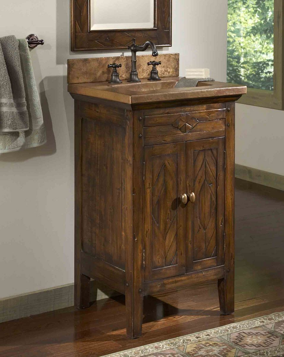 Country bathroom vanities infuse your bathroom country for Bathroom vanity decor pinterest