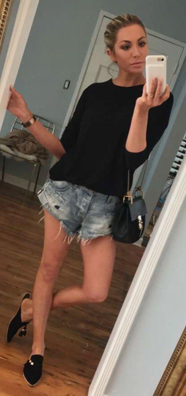 0708ac9ad7 Love these Denim Shorts!! | Stassi