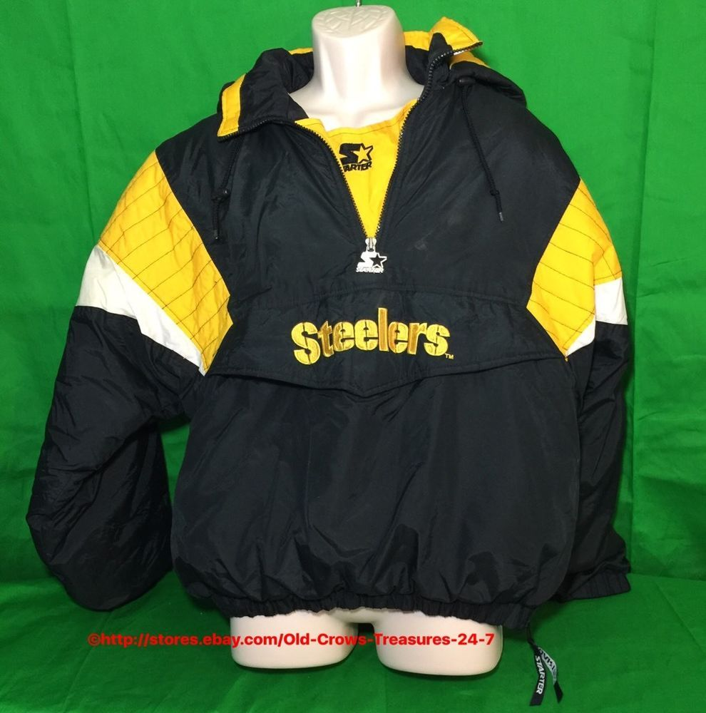 best service 7c5e4 79730 NFL Pittsburgh Steelers Pullover Starter Jacket Medium ...
