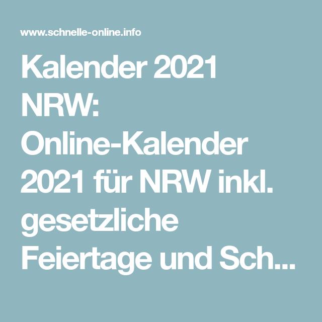 Brueckentage 2021 Kalender 2021 Nrw Ferien : Kalender 2021 ...