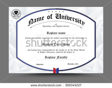 Diploma Certificate Template Design Vector Illustration  Stock