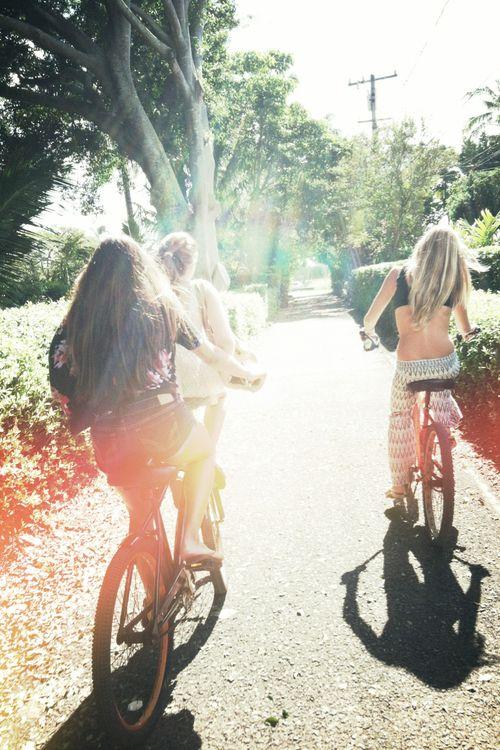 a mini bike gang! summer I sun I beach I palm I bikini I fun I joy I happy I friends I life I sunglasses I free I wild I spirit I water I nature I holiday I surf