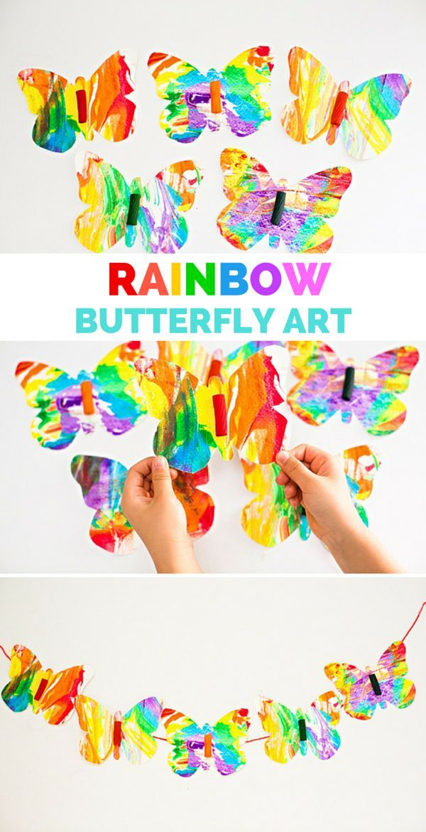 butterfly craft ideas for kids rainbow marbled butterfly pasta pasta 5970