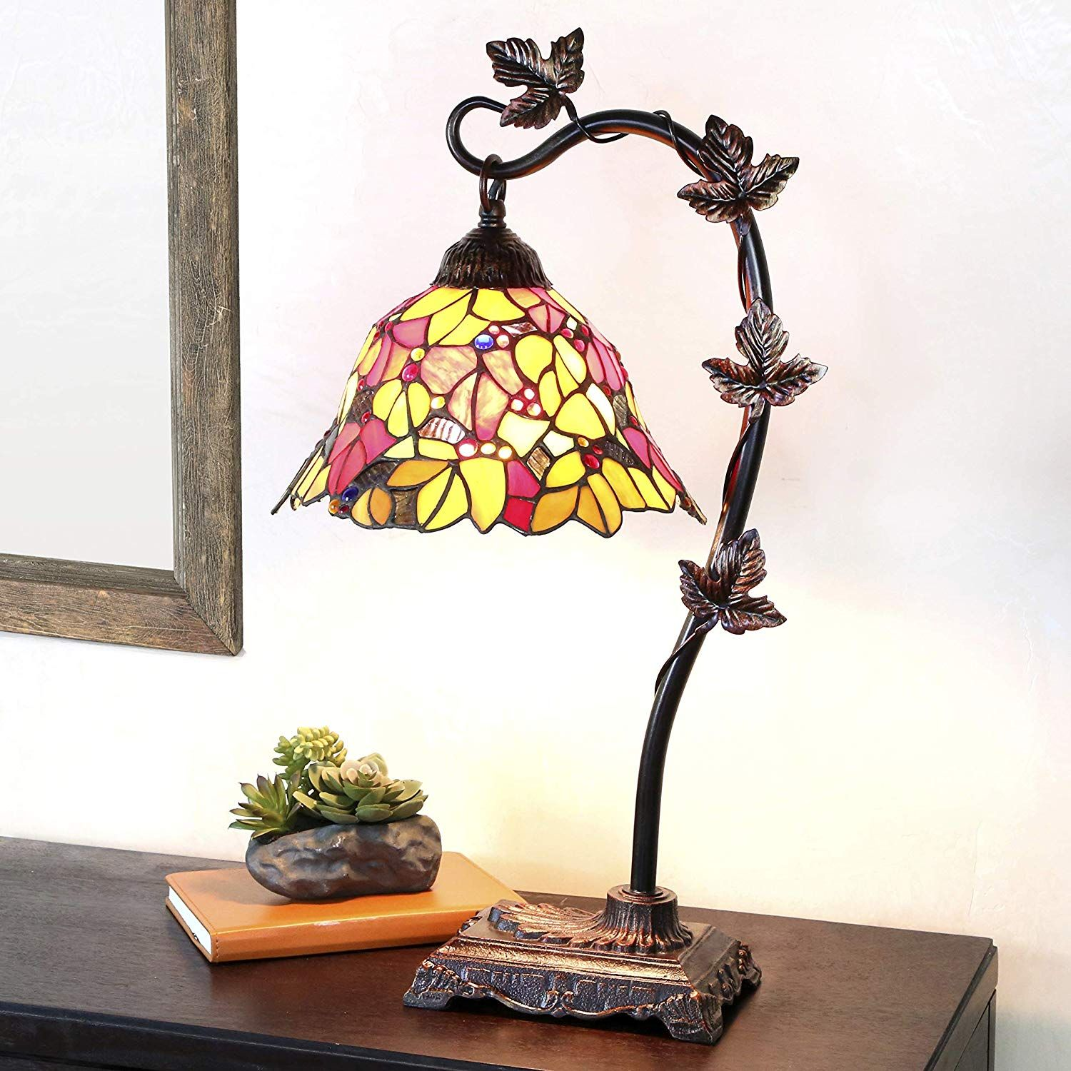 Tiffany Style Stained Glass Table Lamp Stained Glass Table Lamps Tiffany Style Table Lamps Glass Desk Lamps