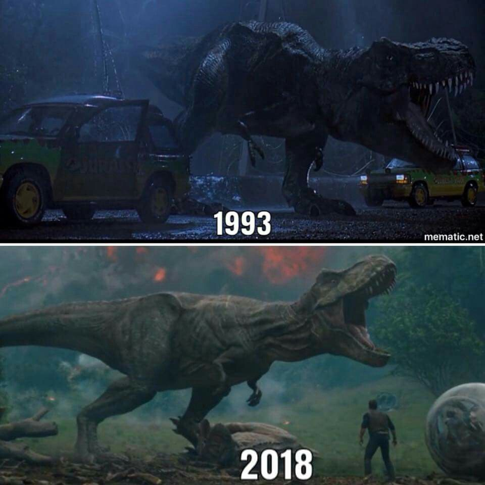 Image result for rexy 1993 vs 2018