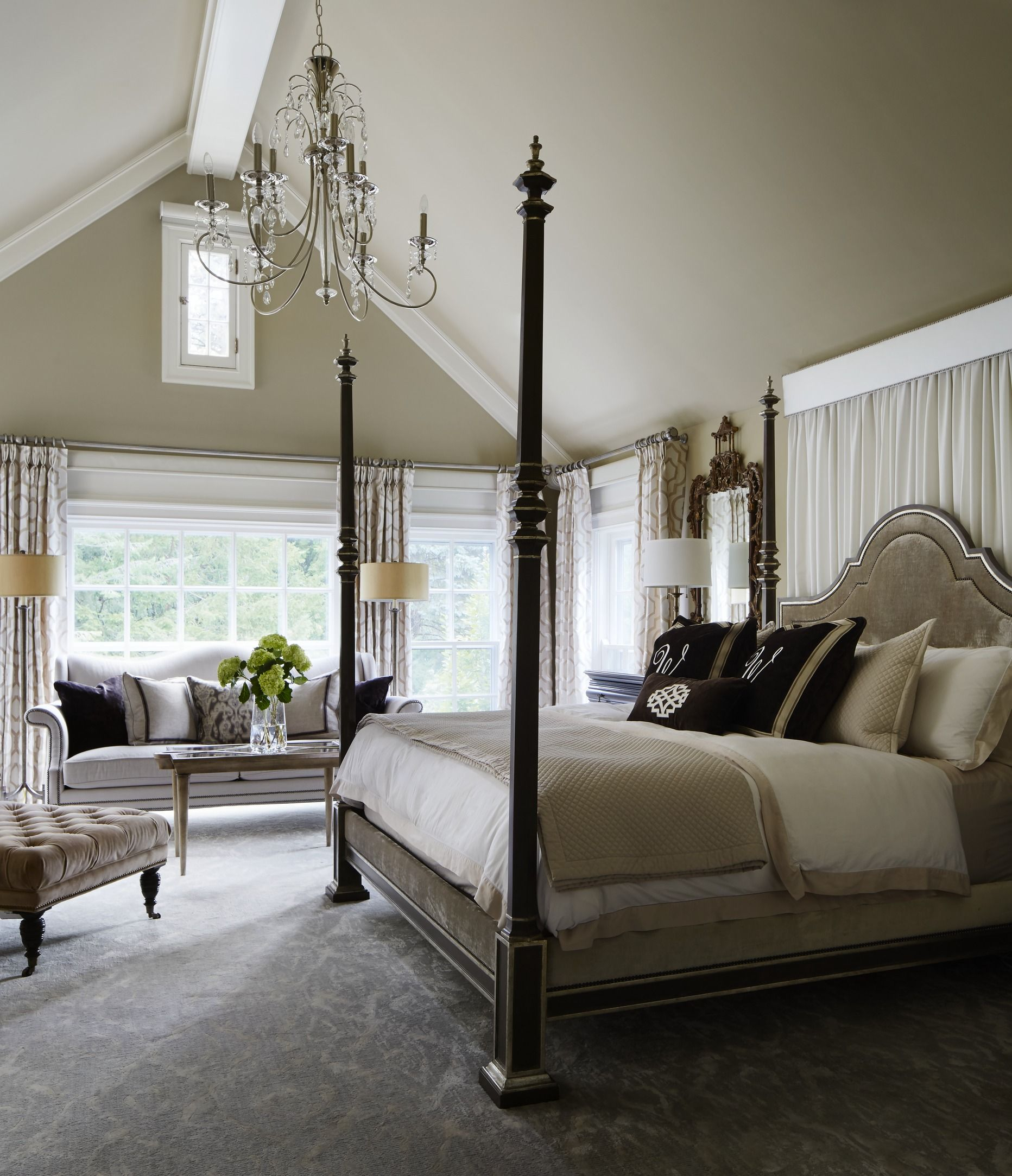 Best Gorgeous Gray And White Bedrooms Traditional Bedroom 400 x 300