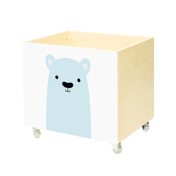 toy chest nursery toy box toy bin storage toy hope crate polar bear kids furniture wooden. Black Bedroom Furniture Sets. Home Design Ideas
