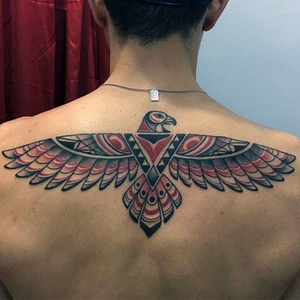 Photo of Male Upper Back Mens Tribal Bird Tattoo Inspiration – #Bird #Inspirat …