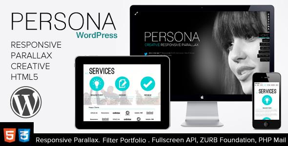 Persona - WordPress Responsive Creative Parallax | WP Themes ...