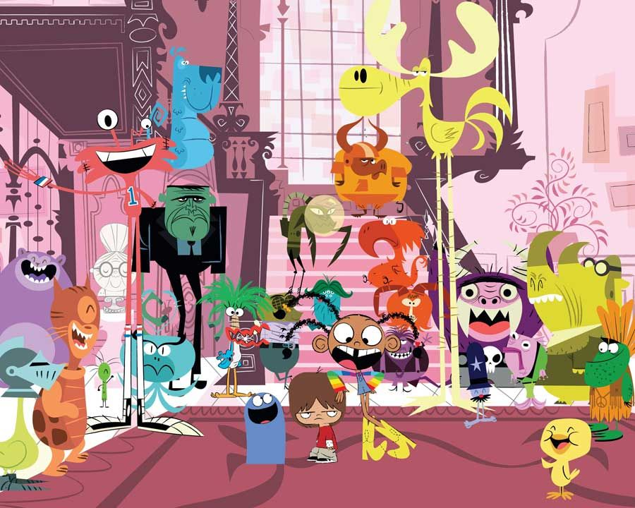 Foster's Home for Imaginary Friends = disgusted with the pinhead exec who decided to cancel this show