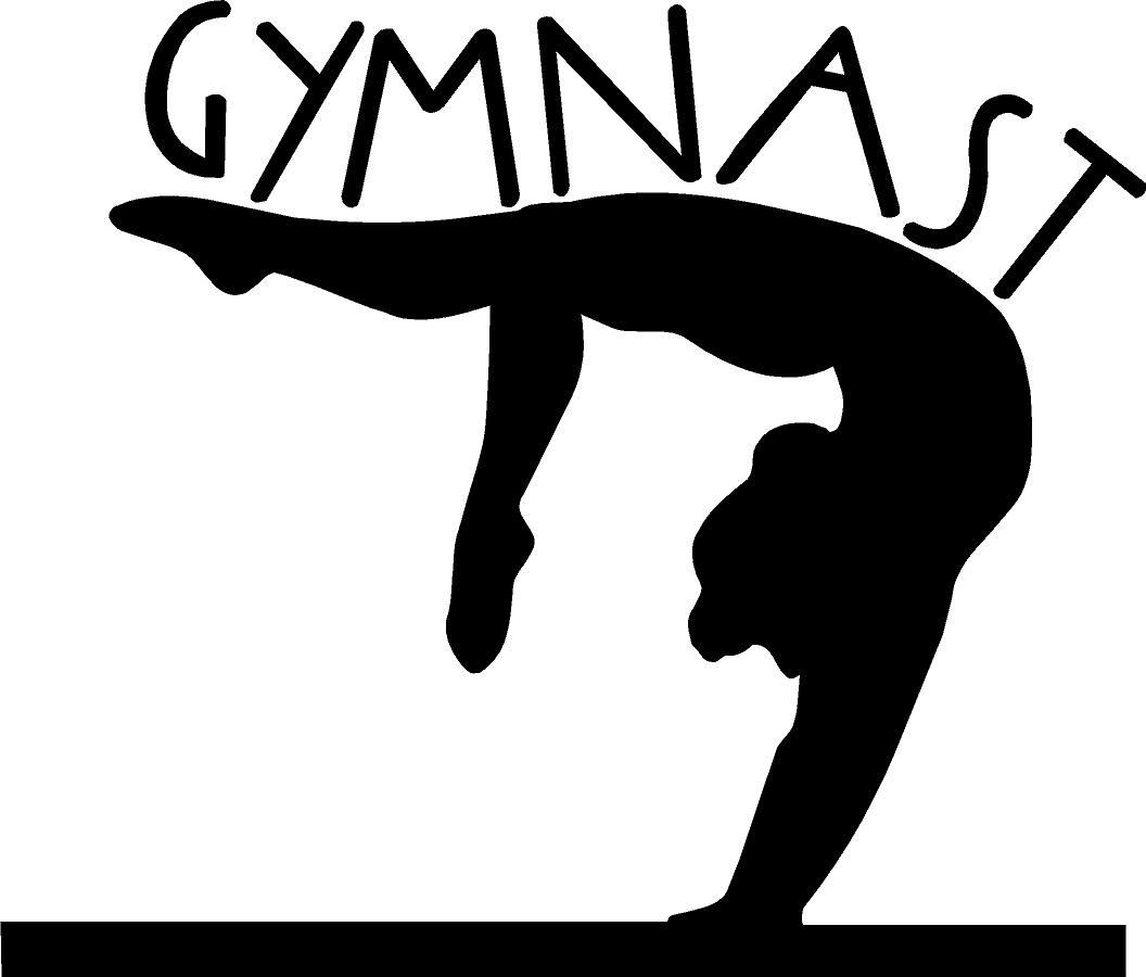 gymnastics clipart silhouette free clipartfest gymnastics rh pinterest com gymnastics clipart free gymnastics clipart images