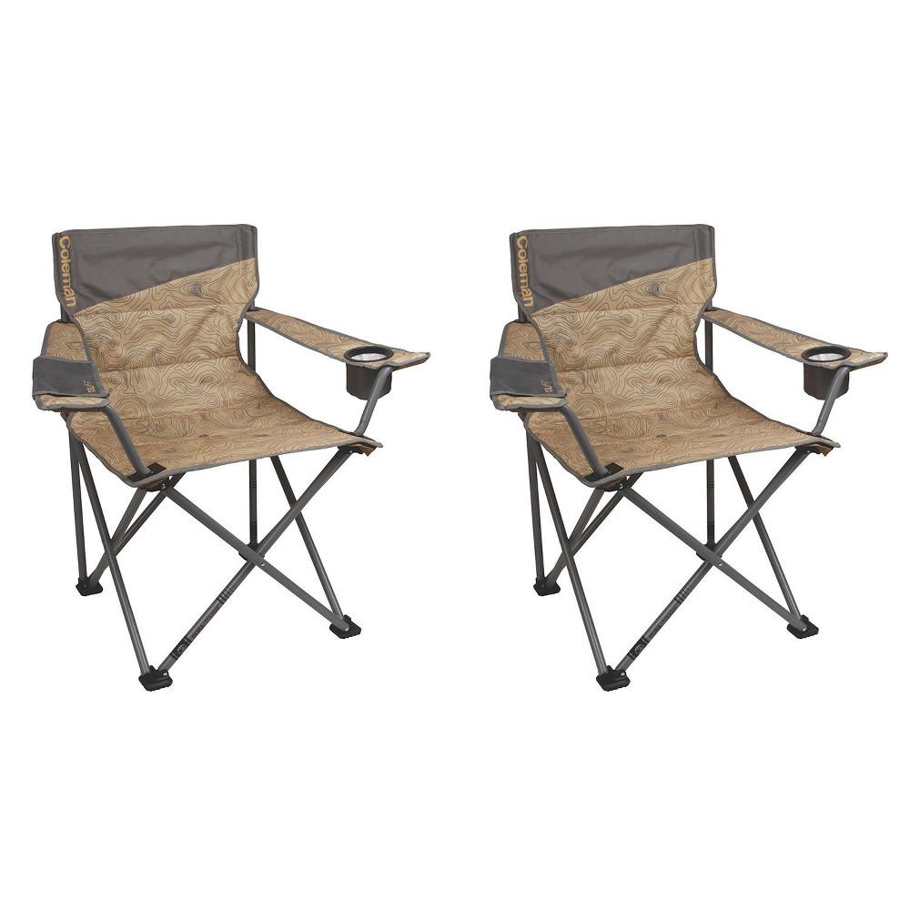 Coleman Oversized Big N Tall Quad Camping Chairs 2 Pack 2 X 2000023590 Products In 2019 Camping Chairs Big N Tall Camping Furniture