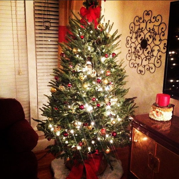 Ribbon and Burlap Christmas Tree