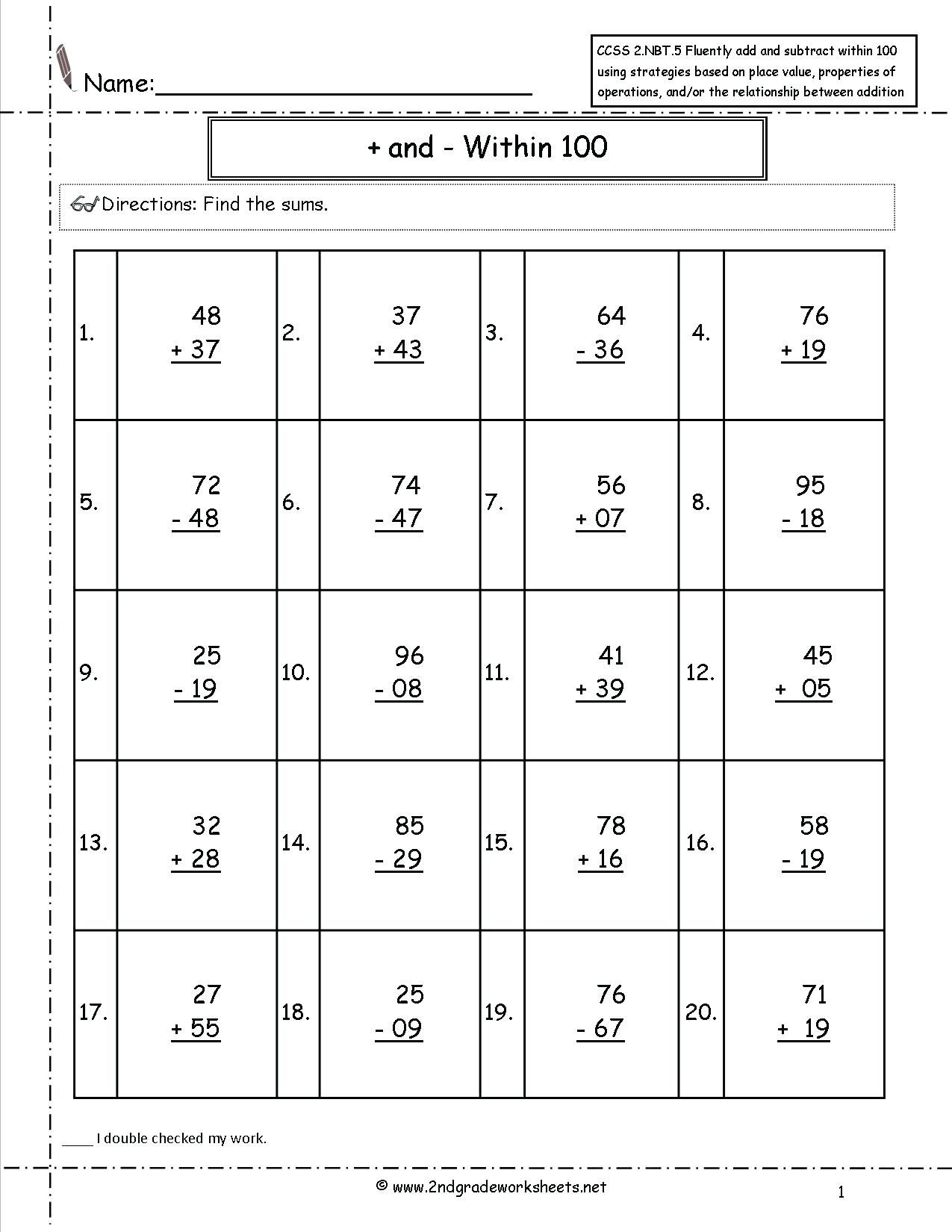40 Awesome 2nd Grade Math Worksheets Design Ideas
