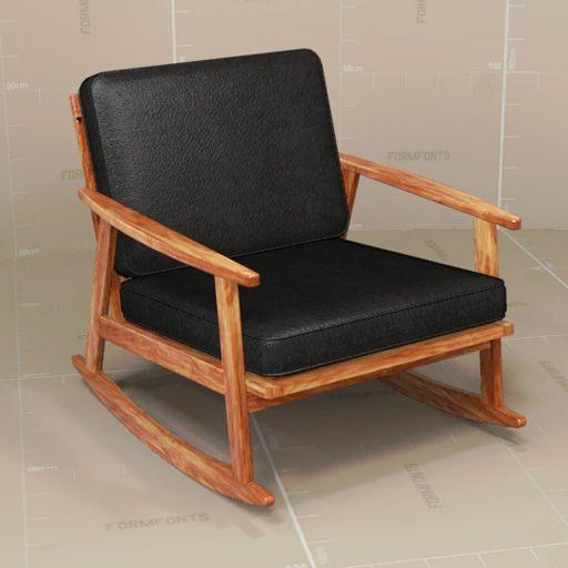Brilliant Mid Century Rocker Chair Revit Version Added Furniture Andrewgaddart Wooden Chair Designs For Living Room Andrewgaddartcom