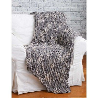 Arm Knit 3-Hour Blanket free knitting pattern | Free Arm and Finger Knitting Patterns at http://intheloopknitting.com/arm-knitting-and-finger-knitting/