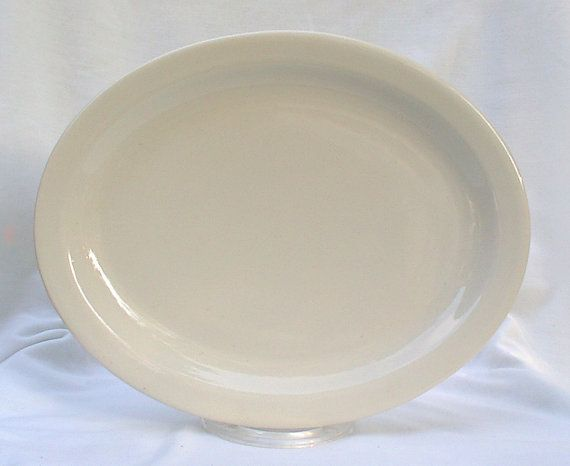 Buffalo China White Oval Platters Lunch Dinner Plates & Buffalo China White Oval Platters Plates Restaurant Diner Ware Lunch ...