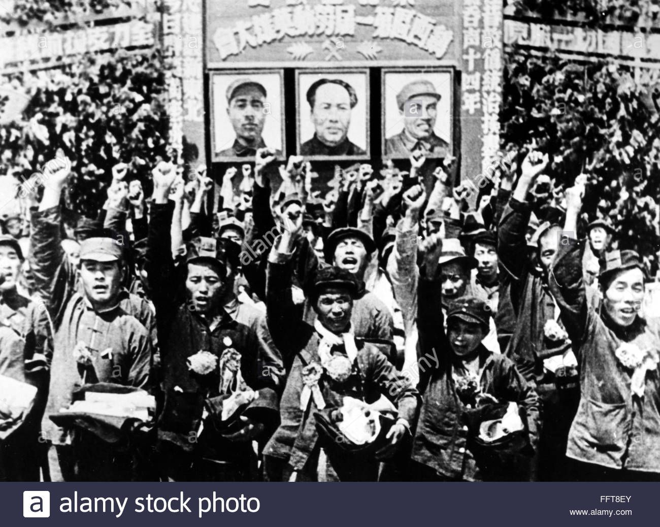 China Peking 1949 Ncrowds In Peking China Welcome Victorious