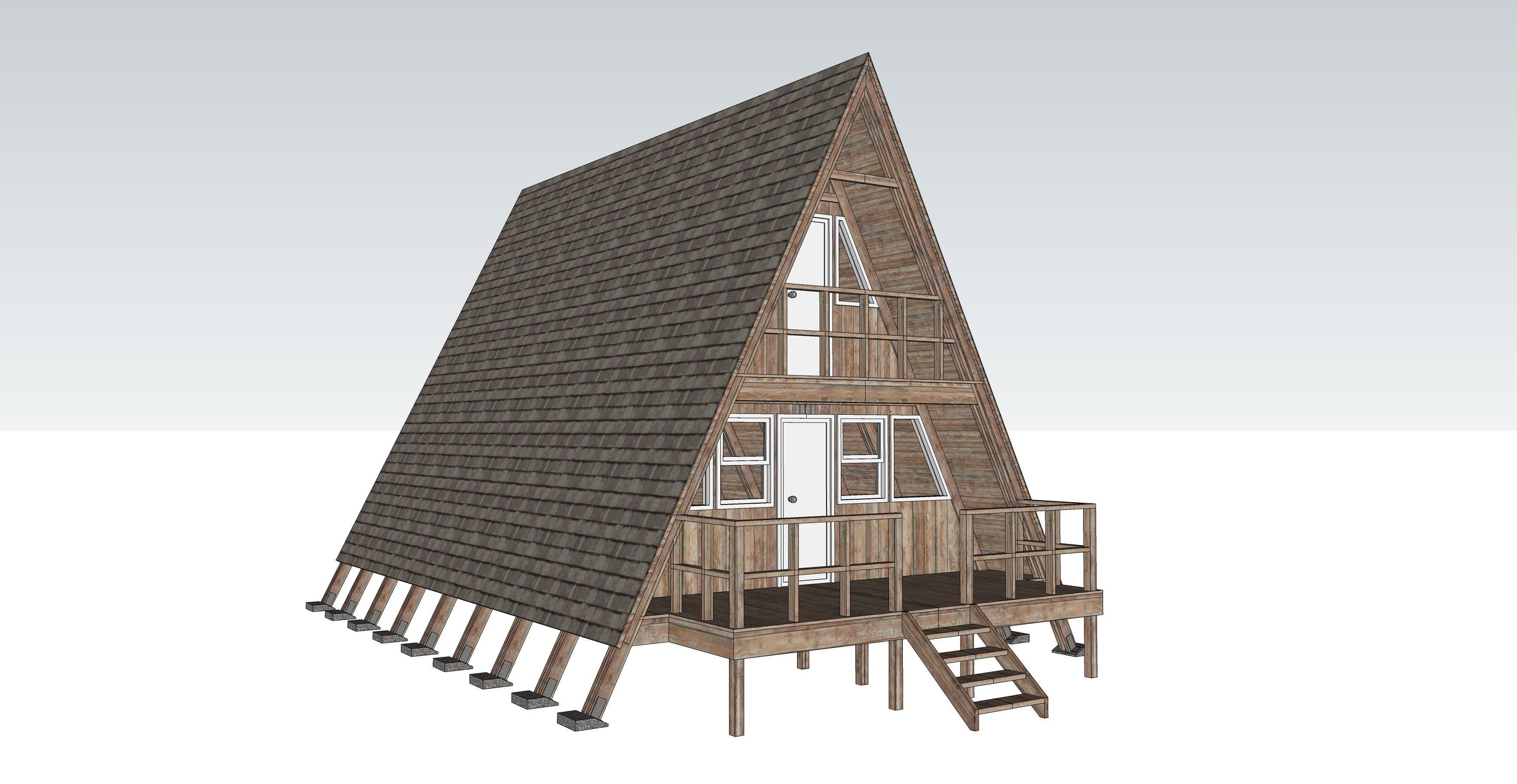 3d model 24 a-frame cabin | Nha | Pinterest | Cabin and Log cabins
