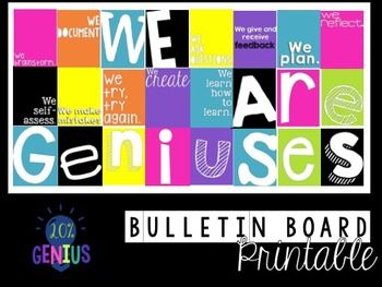 Printable Bulletin Board Set For Genius Hour Passion Projects 20 Time