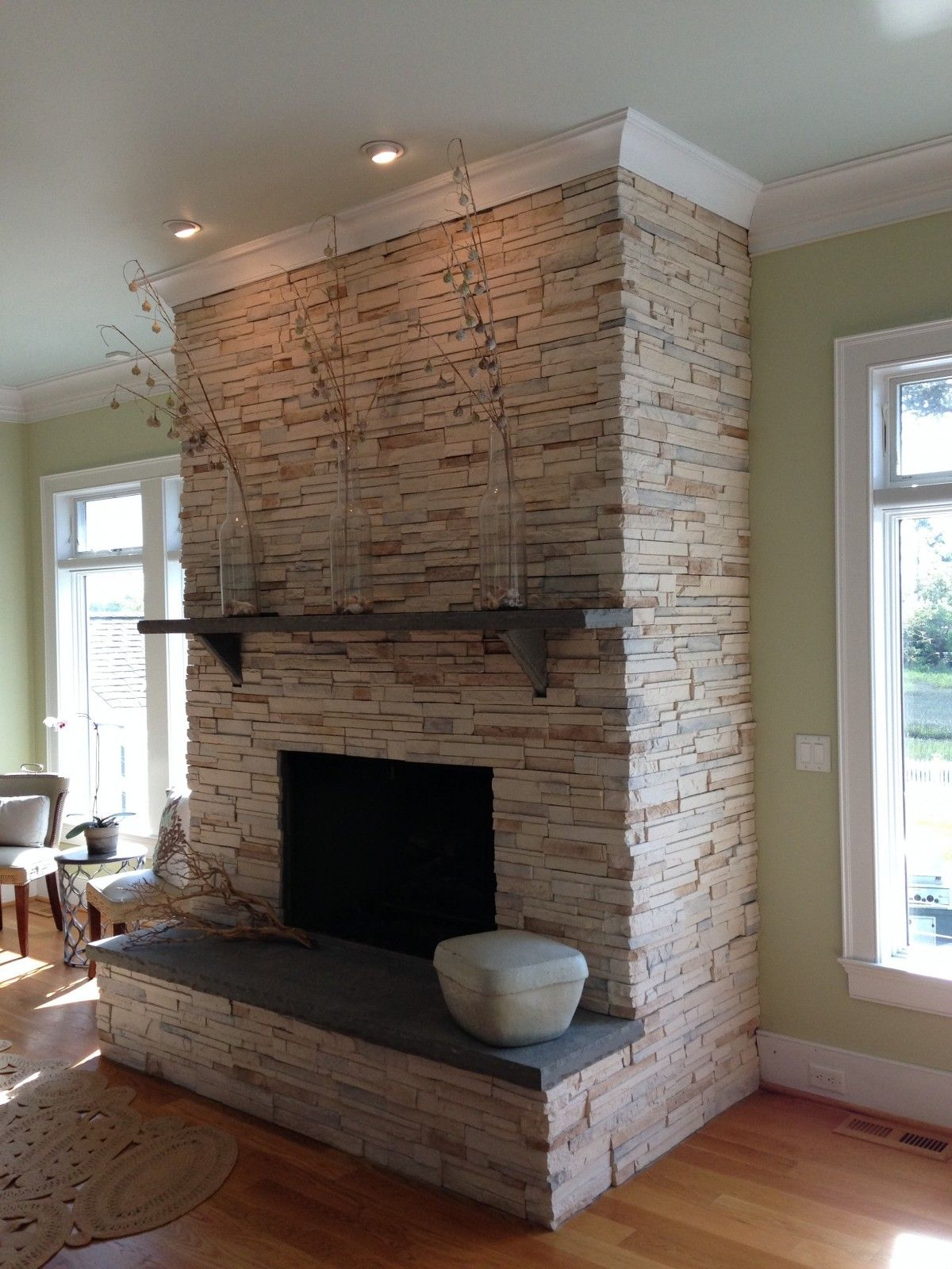 Resurfacing Fireplace With Stone Veneer Mycoffeepot Org