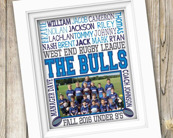 Rugby Coach Gift Rugby Gifts End Of Season Rugby Team Gift Etsy Rugby Gifts Coach Gifts Team Photo Gifts