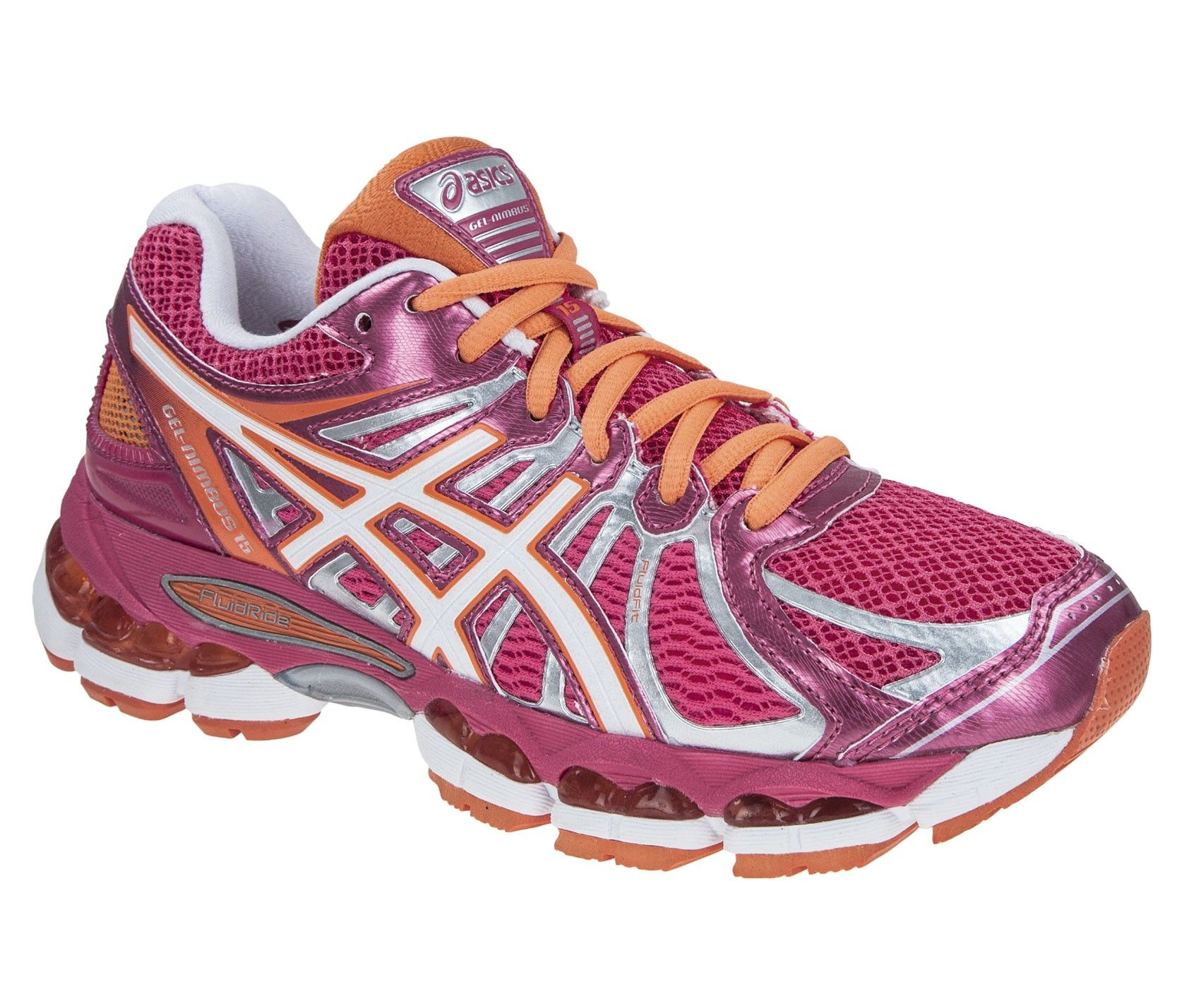 Asics Gel Nimbus 15 in Raspberry. It's a running shoe but it can take you  on a 6 mile trek / walk / run on gently undulating well worn paths like the  ...