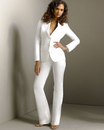 Woman In White Pantsuit