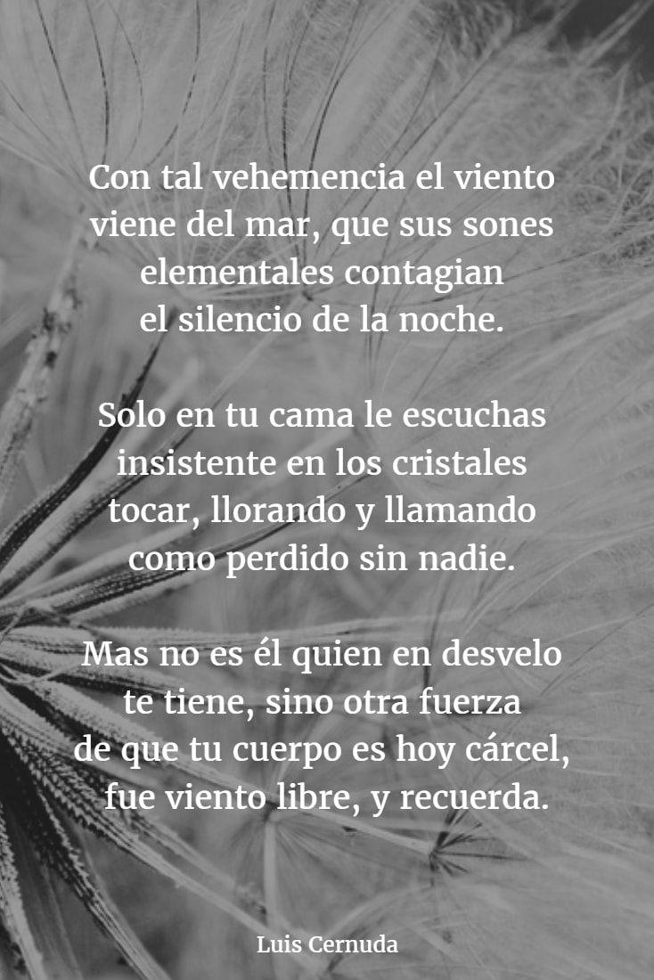 Poema De Luis Cernuda Poemas Cernuda Y Frases Y Poemas