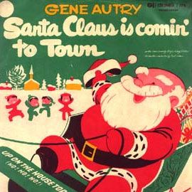 Gene Autry Santa Claus Is Comin To Town 1953 Christmas Vinyl Retro Christmas Christmas Music