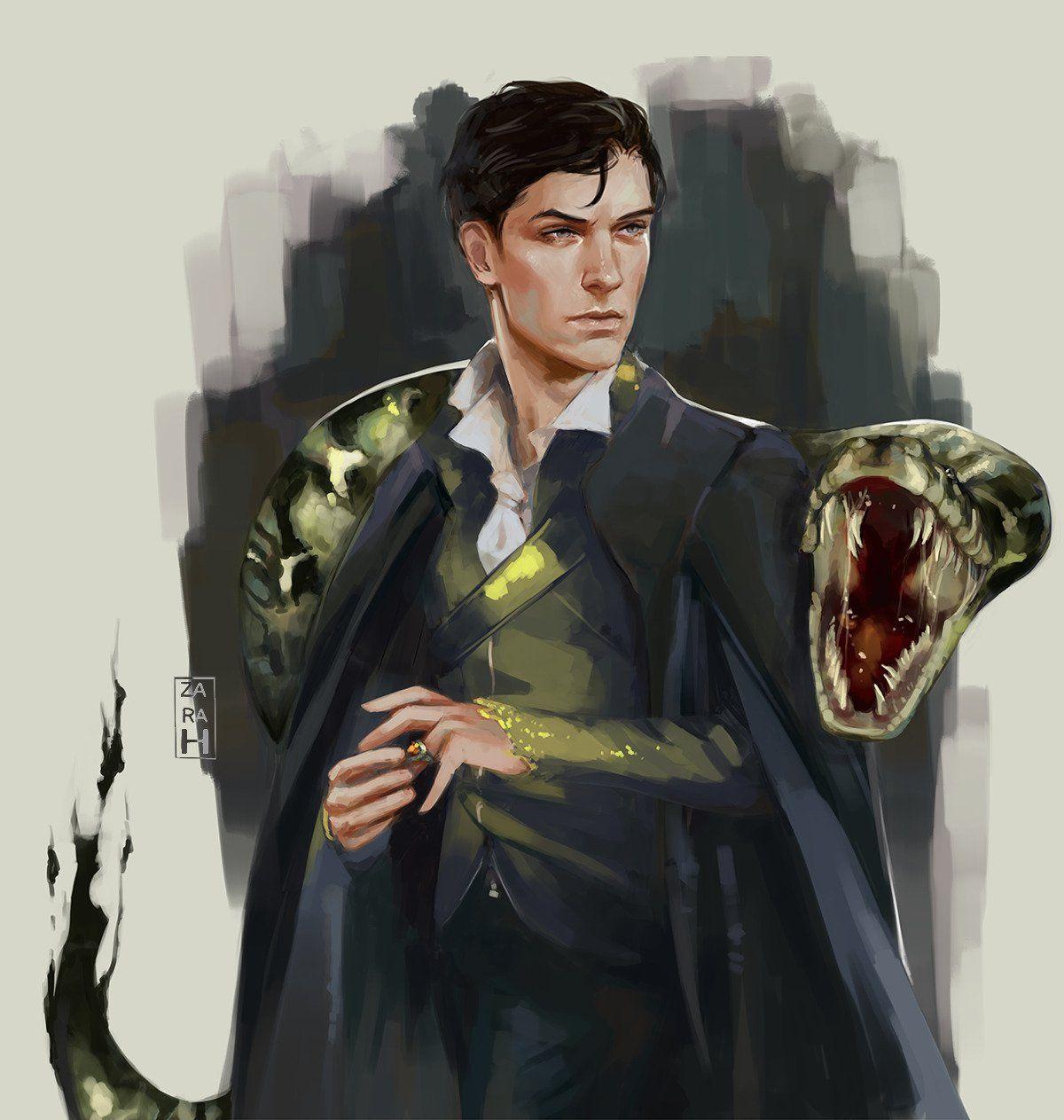 One of the best Tom Riddle's fan art. harrypotter in