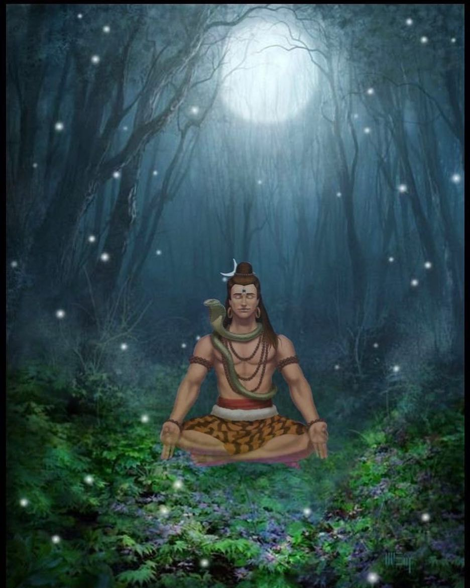 Lord Shiva Is The Supreme God Of Yoga We Can See Take Him To Be The Symbol Of A Victorious Yogi Shiva Has In 2020 Lord Shiva Shiva Meditation Lord Shiva