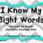 This slide show is animationed with high interest in mind. It  is aligned to the new Journeys 2014 word list for Kindergarten. I open this file in ...