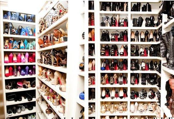 Khloe Kardashians shoe closet