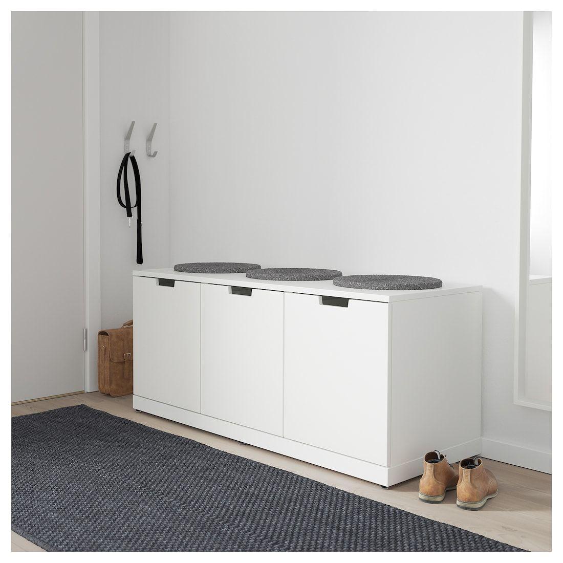 Cassettiera Per Armadio Ikea nordli cassettiera con 3 cassetti - bianco 120x54 cm   idee