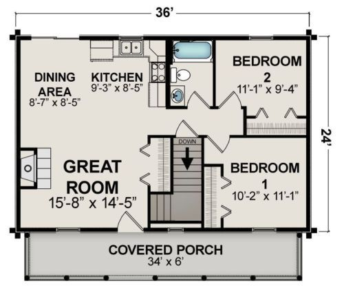 Ranch home plan sq ft scale floor style open concept porch also rh pinterest