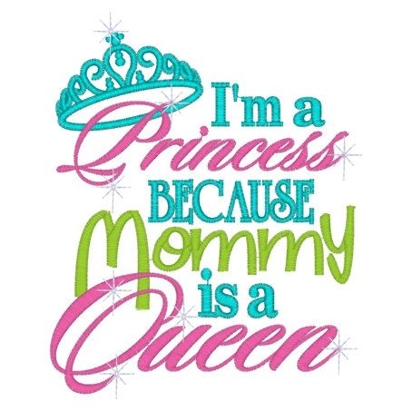 I'm a princess because mommy is a queen girls by PrincessCustoms, $17.50